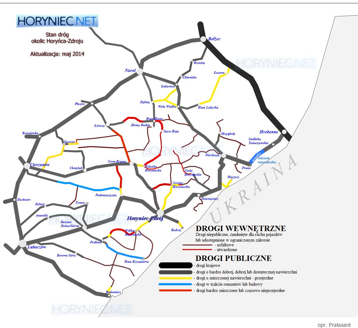 Stan dróg okolic Horyńca-Zdroju