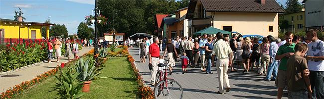 Na deptaku w Horyńcu-Zdroju